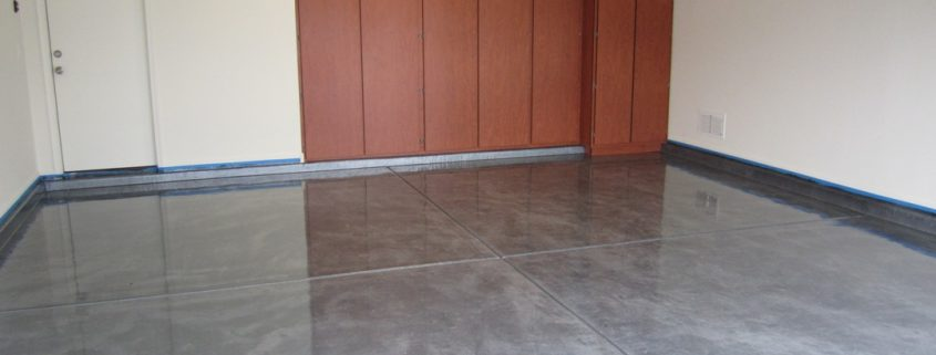 epoxy floor coating in garage