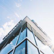 anti reflective coating spray on skyscraper windows