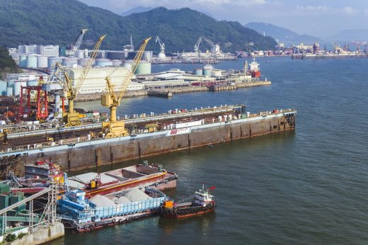 hong kong harbour with fireproof paint for steel